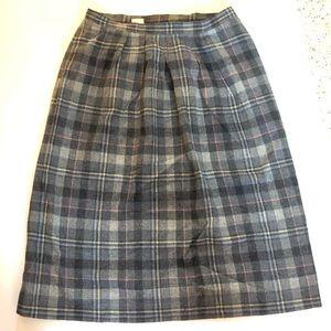 Vintage Pendleton Wool Skirt Size 18 Gray USA